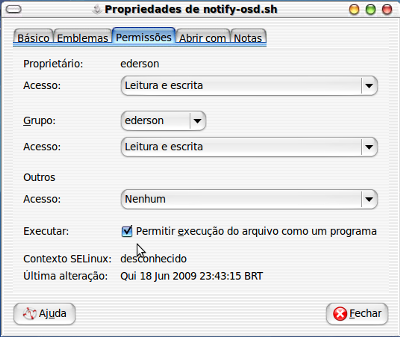 Linux: Instalando o Notify-OSD do Ubuntu 9.04 no Ubuntu 8.10 Intrepid Ibex
