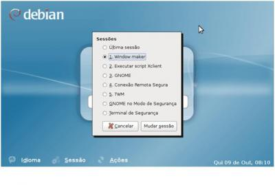 Debian Linux: Sessão WindowMaker