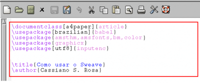 Linux: Sweave: Interface entre R e LaTex
