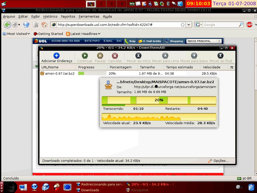 Acelerando downloads com facilidade em Firefox e SwiftWeasel