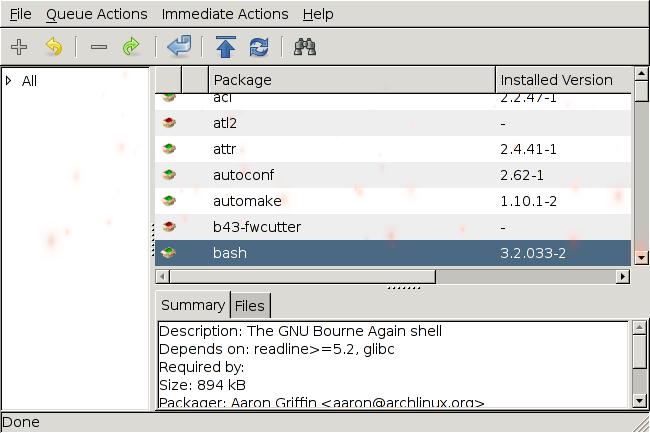 Instalando uma interface gráfica para o pacman (gerenciador de
