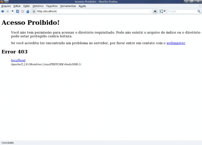 Error 403 do Apache no Mandriva 2008.1