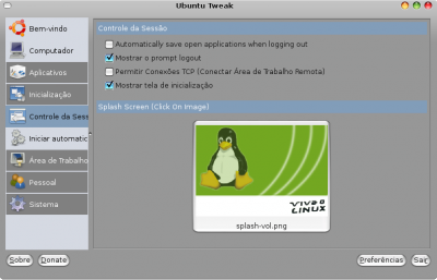Linux: Splash do VOL no seu GNOME