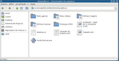 Linux: Montando shares do samba no Thunar