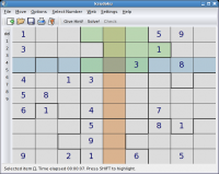 Linux: Sudoku no KDE (game)