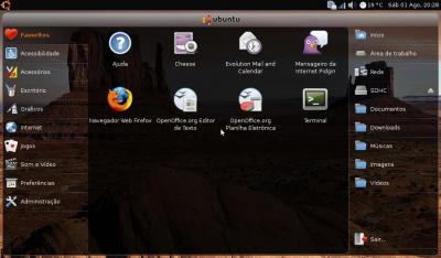 Linux: Enxergando seu wallpaper no UNR (Ubuntu Netbook Remix)