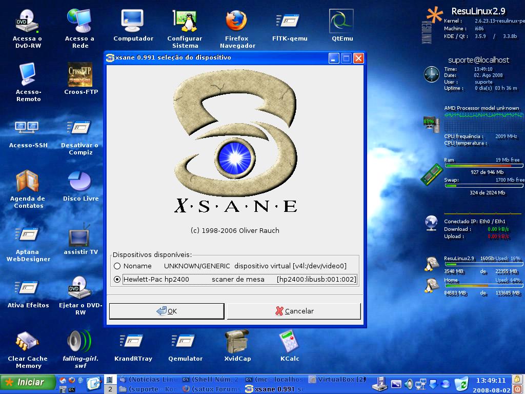 Instalando o scanner HP2400c no Debian Linux [Dica]